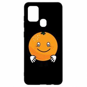 Etui na Samsung A21s Pomarańcza