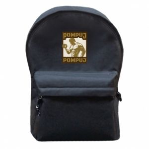 Backpack with front pocket Pump your muscles