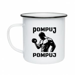 Enameled mug Pump your muscles