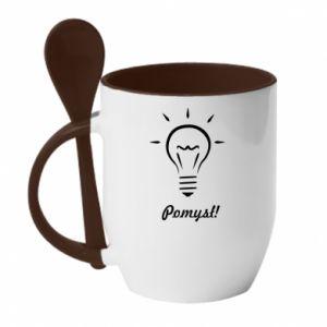 Mug with ceramic spoon Idea
