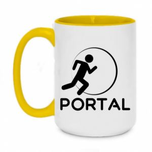 Two-toned mug 450ml Portal