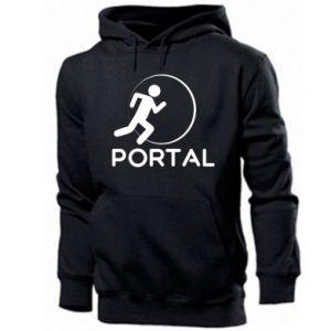 Męska bluza z kapturem Portal