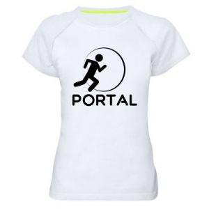 Damska koszulka sportowa Portal