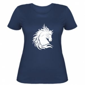 Women's t-shirt Horse portrait - PrintSalon