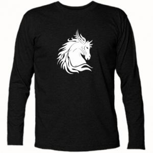 Koszulka z długim rękawem Portret konia - Printsalon