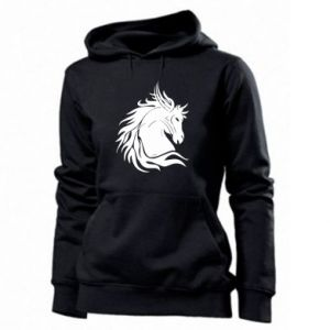 Women's hoodies Horse portrait - PrintSalon