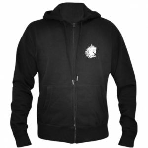Men's zip up hoodie Horse portrait - PrintSalon