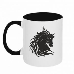 Two-toned mug Horse portrait - PrintSalon
