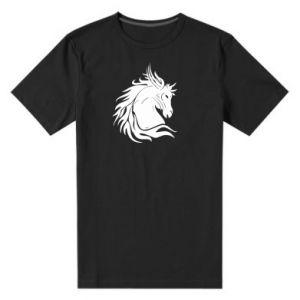 Męska premium koszulka Portret konia - Printsalon