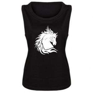 Damska koszulka Portret konia - PrintSalon