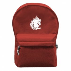 Backpack with front pocket Horse portrait - PrintSalon
