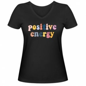 Damska koszulka V-neck Positive Energy