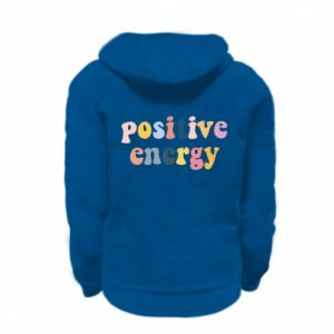 Kid's zipped hoodie % print% Positive Energy