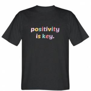 Koszulka męska Positivity is key