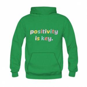Bluza z kapturem dziecięca Positivity is key