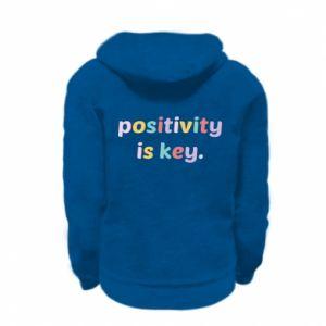 Bluza na zamek dziecięca Positivity is key