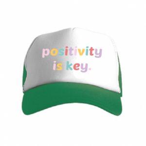 Czapka trucker dziecięca Positivity is key
