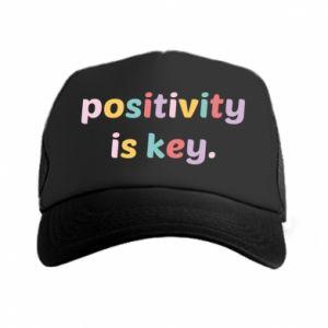 Czapka trucker Positivity is key