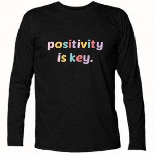 Koszulka z długim rękawem Positivity is key