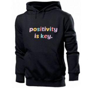Bluza z kapturem męska Positivity is key