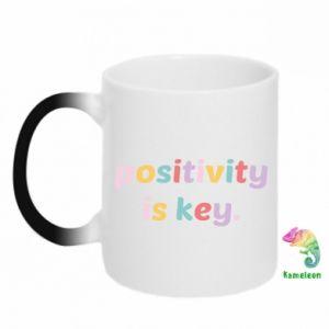 Kubek-magiczny Positivity is key