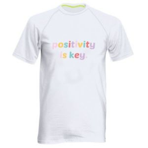 Koszulka sportowa męska Positivity is key