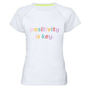 Koszulka sportowa damska Positivity is key