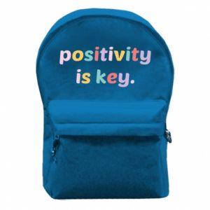 Plecak z przednią kieszenią Positivity is key