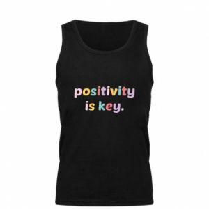 Męska koszulka Positivity is key