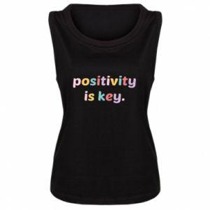Damska koszulka bez rękawów Positivity is key