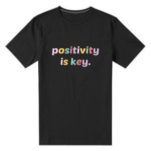 Męska premium koszulka Positivity is key