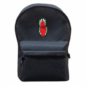 Backpack with front pocket Monster jaw