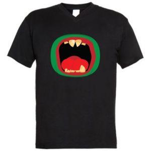 Męska koszulka V-neck Potwór