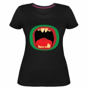 Damska premium koszulka Potwór - PrintSalon