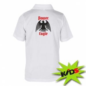 Dziecięca koszulka polo Power eagle