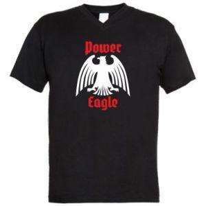Męska koszulka V-neck Power eagle