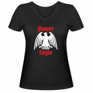 Damska koszulka V-neck Power eagle