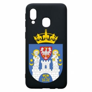 Phone case for Samsung A40 Poznan coat of arms