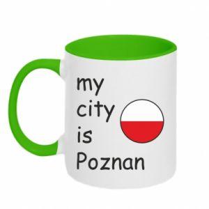 Kubek dwukolorowy My city is Poznan - PrintSalon