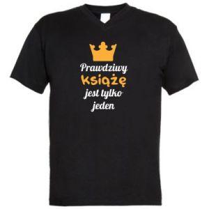 Męska koszulka V-neck Prawdziwy książę