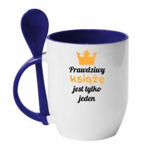 Kubek z ceramiczną łyżeczką Prawdziwy książę