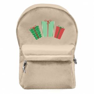 Backpack with front pocket New Year gifts