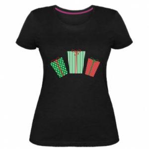 Damska premium koszulka Prezenty noworoczne