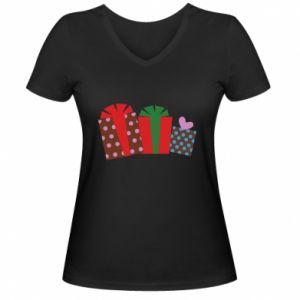 Damska koszulka V-neck Prezenty