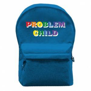 Plecak z przednią kieszenią Problem child