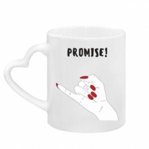 Kubek z uchwytem w kształcie serca Promise!