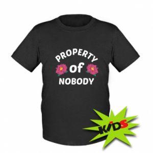 Koszulka dziecięca Property of nobody