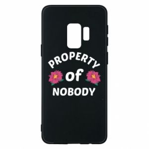 Phone case for Samsung S9 Property of nobody