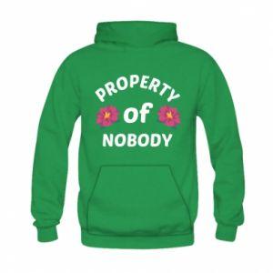 Bluza z kapturem dziecięca Property of nobody