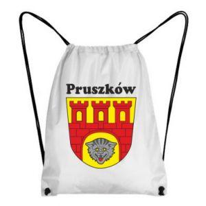 Plecak-worek Pruszków. Herb.